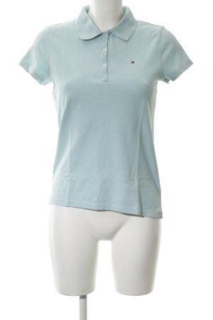 6a42b17d143 Tommy Hilfiger Camiseta tipo polo azul bebé estilo clásico