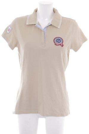 Tommy Hilfiger Polo-Shirt beige-blassblau sportlicher Stil