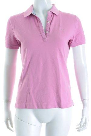 Tommy Hilfiger Polo-Shirt blasslila schlichter Stil