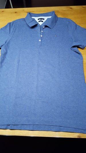 Tommy Hilfiger, Polo-Shirt, Classic Fit, XXL, blau meliert