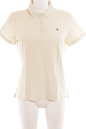 Tommy Hilfiger Polo-Shirt creme schlichter Stil