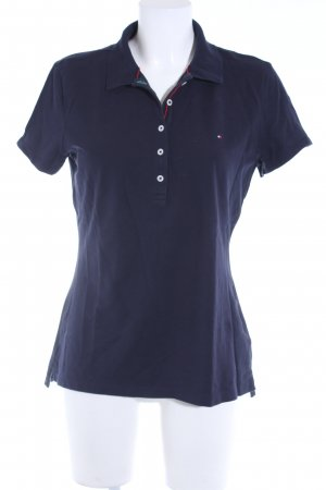 Tommy Hilfiger Polo shirt donkerblauw klassieke stijl