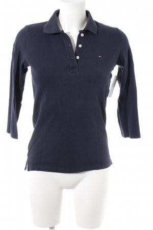 Tommy Hilfiger Polo Shirt dark blue simple style