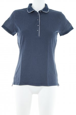 Tommy Hilfiger Polo-Shirt dunkelblau-weiß Punktemuster Casual-Look