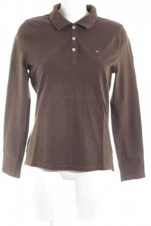 Tommy Hilfiger Polo-Shirt dunkelbraun klassischer Stil