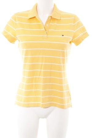 Tommy Hilfiger Polo-Shirt dunkelgelb-wollweiß Streifenmuster College-Look