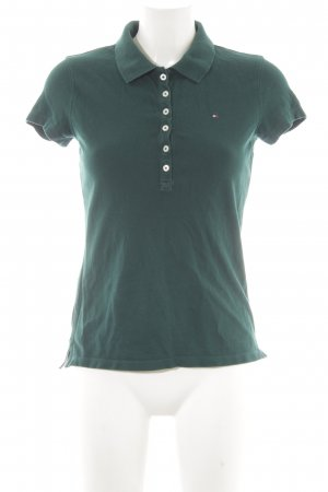 Tommy Hilfiger Polo-Shirt dunkelgrün Casual-Look