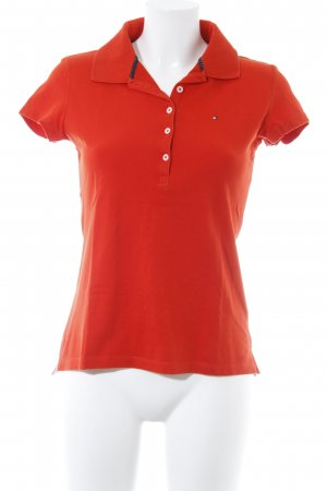 Tommy Hilfiger Polo-Shirt dunkelorange Casual-Look