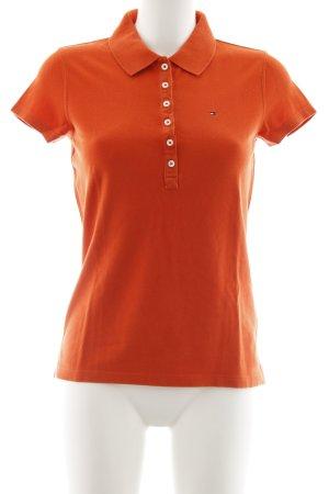 Tommy Hilfiger Polo-Shirt dunkelorange schlichter Stil