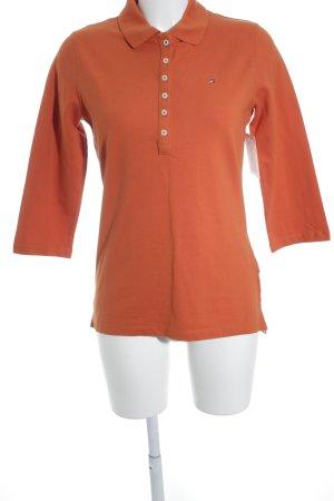 Tommy Hilfiger Polo-Shirt dunkelorange sportlicher Stil