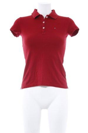 Tommy Hilfiger Polo-Shirt dunkelrot Business-Look