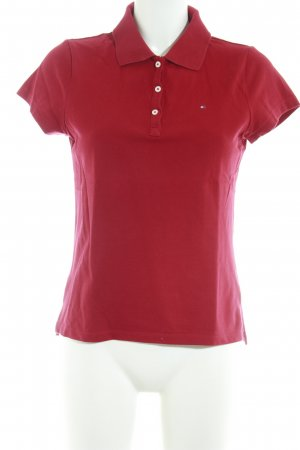 Tommy Hilfiger Polo-Shirt dunkelrot Casual-Look