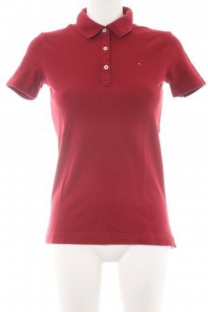 Tommy Hilfiger Camiseta tipo polo rojo oscuro look casual