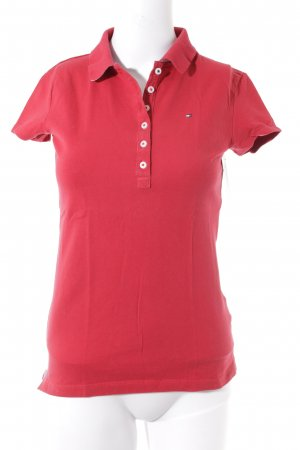 Tommy Hilfiger Polo Shirt dark red classic style