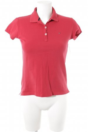 Tommy Hilfiger Polo rouge foncé style simple