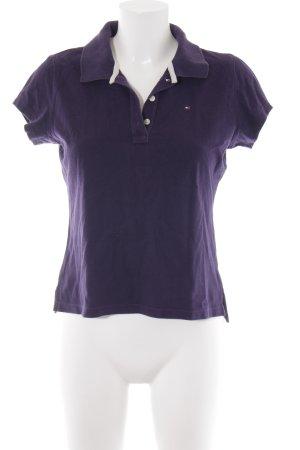 Tommy Hilfiger Polo-Shirt dunkelviolett Casual-Look