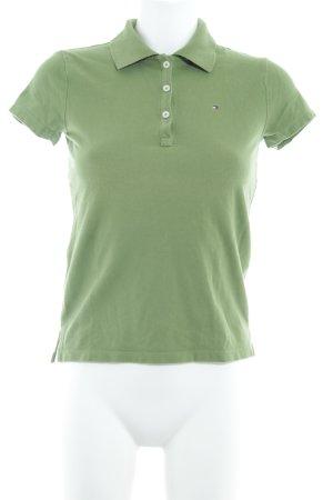 Tommy Hilfiger Polo-Shirt grasgrün klassischer Stil