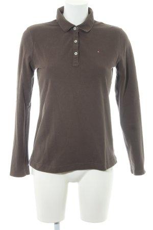 Tommy Hilfiger Polo shirt groen-grijs zakelijke stijl