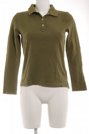 Tommy Hilfiger Polo grigio-verde stile casual