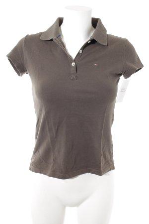 Tommy Hilfiger Polo-Shirt grüngrau sportlicher Stil