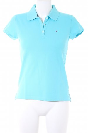 Tommy Hilfiger Camiseta tipo polo azul claro look casual