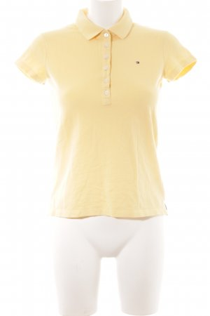 Tommy Hilfiger Polo-Shirt hellgelb Segel-Look