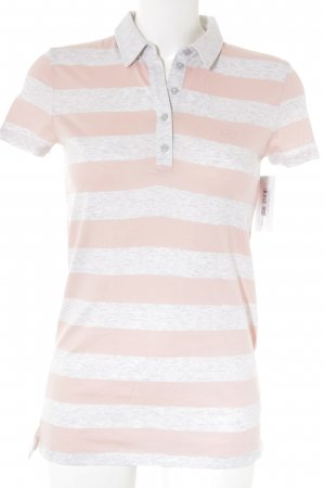 Tommy Hilfiger Polo shirt lichtgrijs-lichtroze casual uitstraling