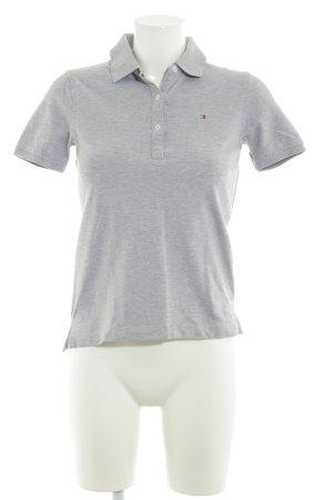 Tommy Hilfiger Polo-Shirt hellgrau klassischer Stil