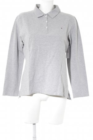 Tommy Hilfiger Polo Shirt light grey flecked athletic style