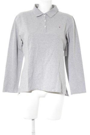 Tommy Hilfiger Polo-Shirt hellgrau meliert sportlicher Stil