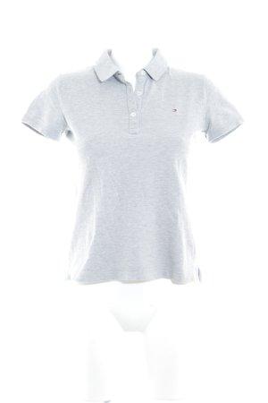 Tommy Hilfiger Camiseta tipo polo gris claro estilo marinero