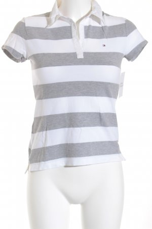 Tommy Hilfiger Polo-Shirt hellgrau-weiß meliert Casual-Look