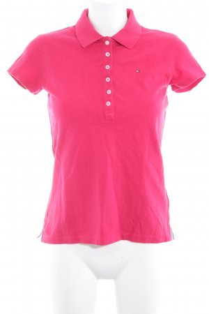 Tommy Hilfiger Polo shirt framboosrood casual uitstraling
