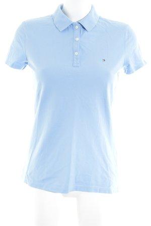 Tommy Hilfiger Camiseta tipo polo azul celeste look casual
