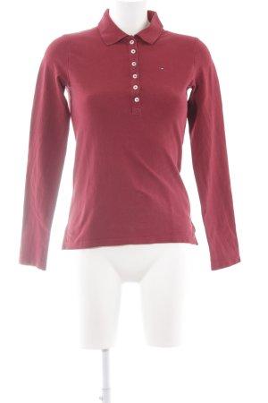 Tommy Hilfiger Polo-Shirt karminrot schlichter Stil