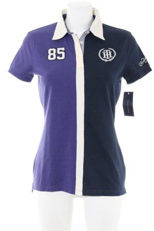 Tommy Hilfiger Polo-Shirt lila-schwarz Casual-Look