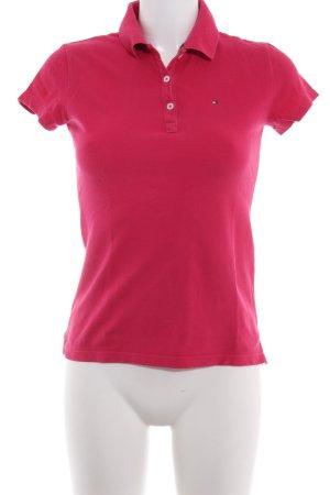 Tommy Hilfiger Camiseta tipo polo magenta look casual
