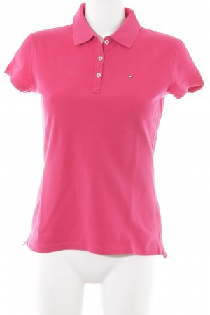 Tommy Hilfiger Polo-Shirt magenta Casual-Look