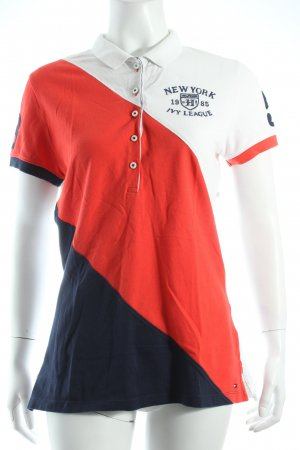 Tommy Hilfiger Polo-Shirt mehrfarbig College-Look