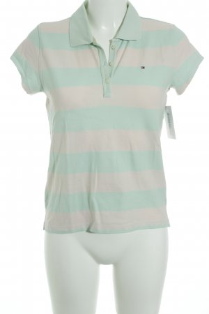 Tommy Hilfiger Polo-Shirt mint-rosé Streifenmuster Casual-Look