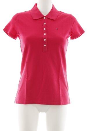 Tommy Hilfiger Polo-Shirt neonrot schlichter Stil