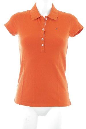 Tommy Hilfiger Polo shirt oranje klassieke stijl