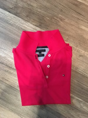 Tommy Hilfiger Polo rouge framboise coton