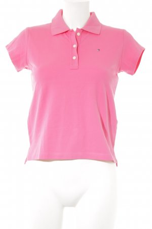 Tommy Hilfiger Polo rosa stile atletico