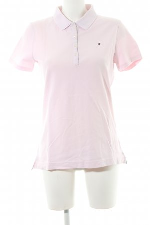 Tommy Hilfiger Polo-Shirt rosa Logo-Applikation