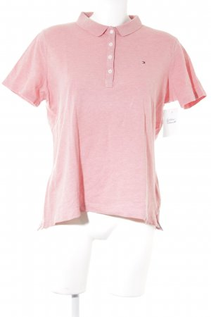 Tommy Hilfiger Polo Shirt pink flecked casual look