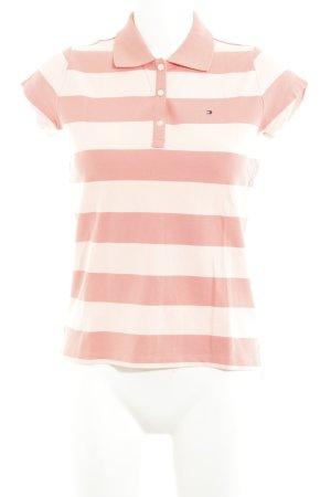 Tommy Hilfiger Polo rosa pallido-salmone motivo a righe stile da marinaio