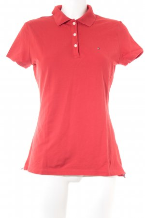 Tommy Hilfiger Polo-Shirt rot Casual-Look