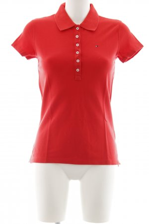 Tommy Hilfiger Polo rosso stile semplice
