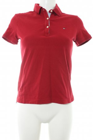 Tommy Hilfiger Polo Shirt red athletic style